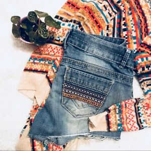 Embellished Back Pocket Short